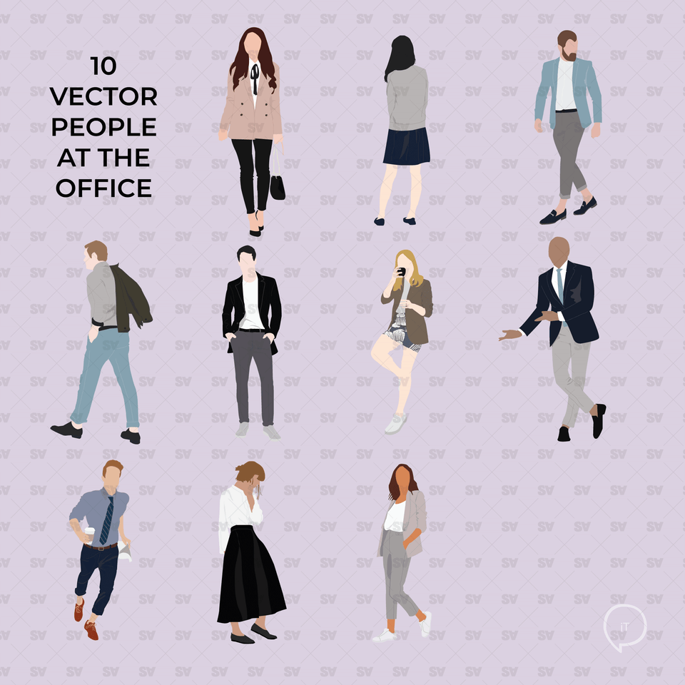 office flat vector people