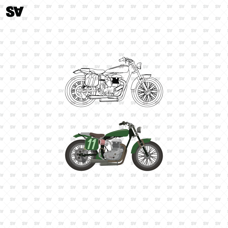 vector motorcycle