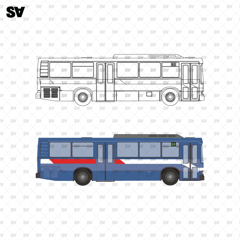 vector cad bus