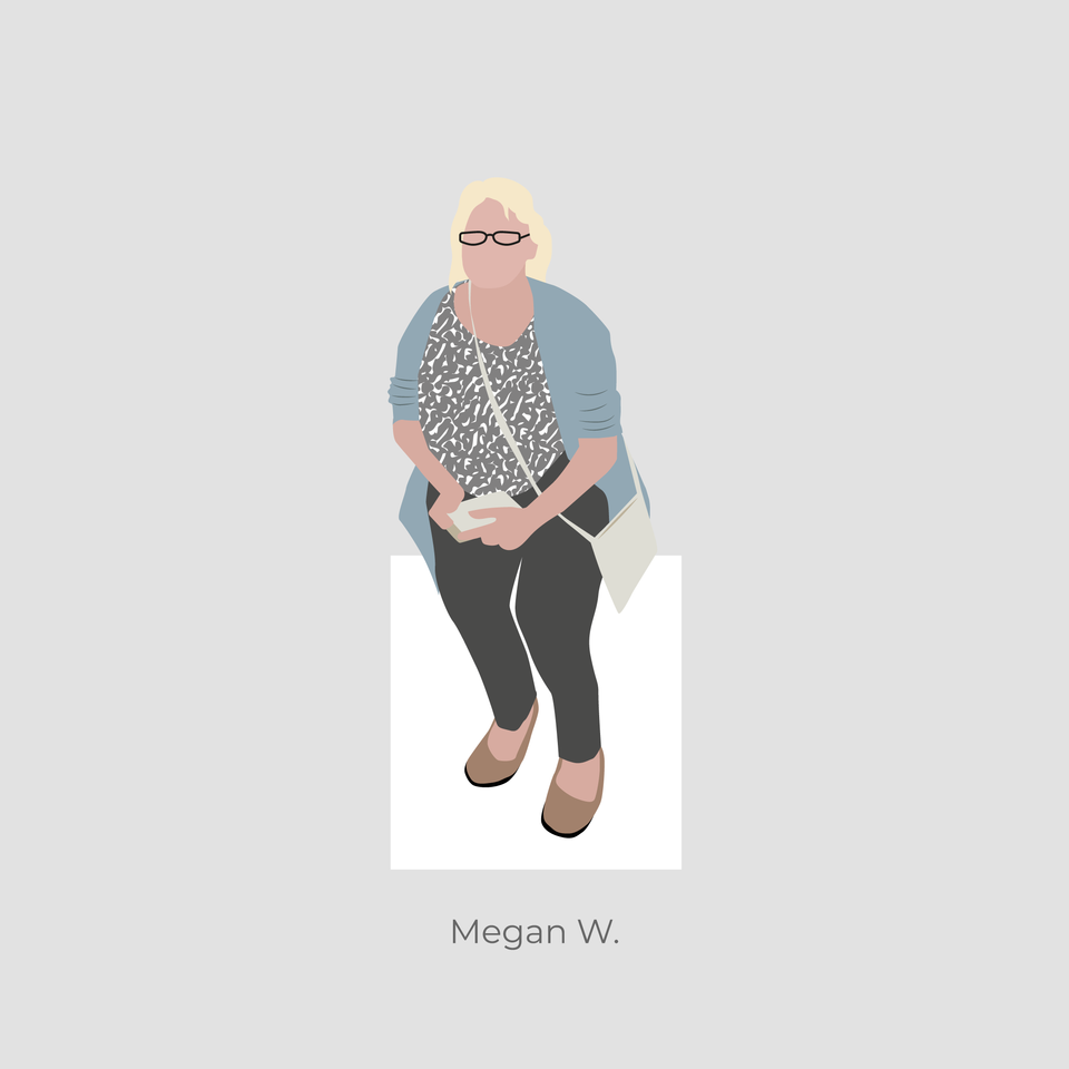 vector woman sitting