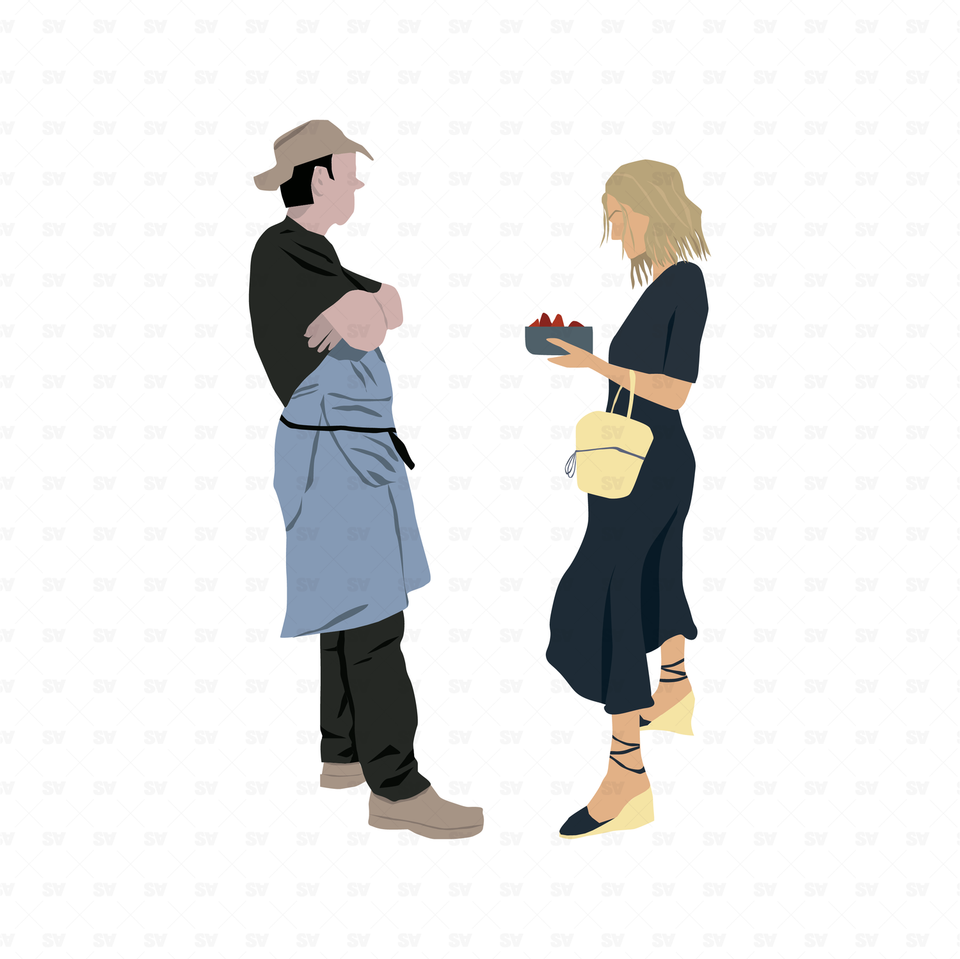 flat vector people couple