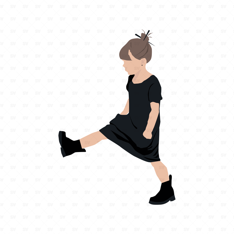 kid flat vector illustration