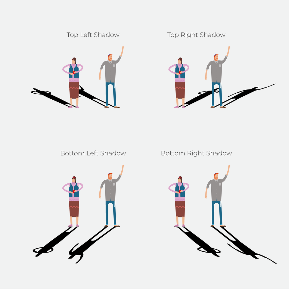 shadow perspective vector