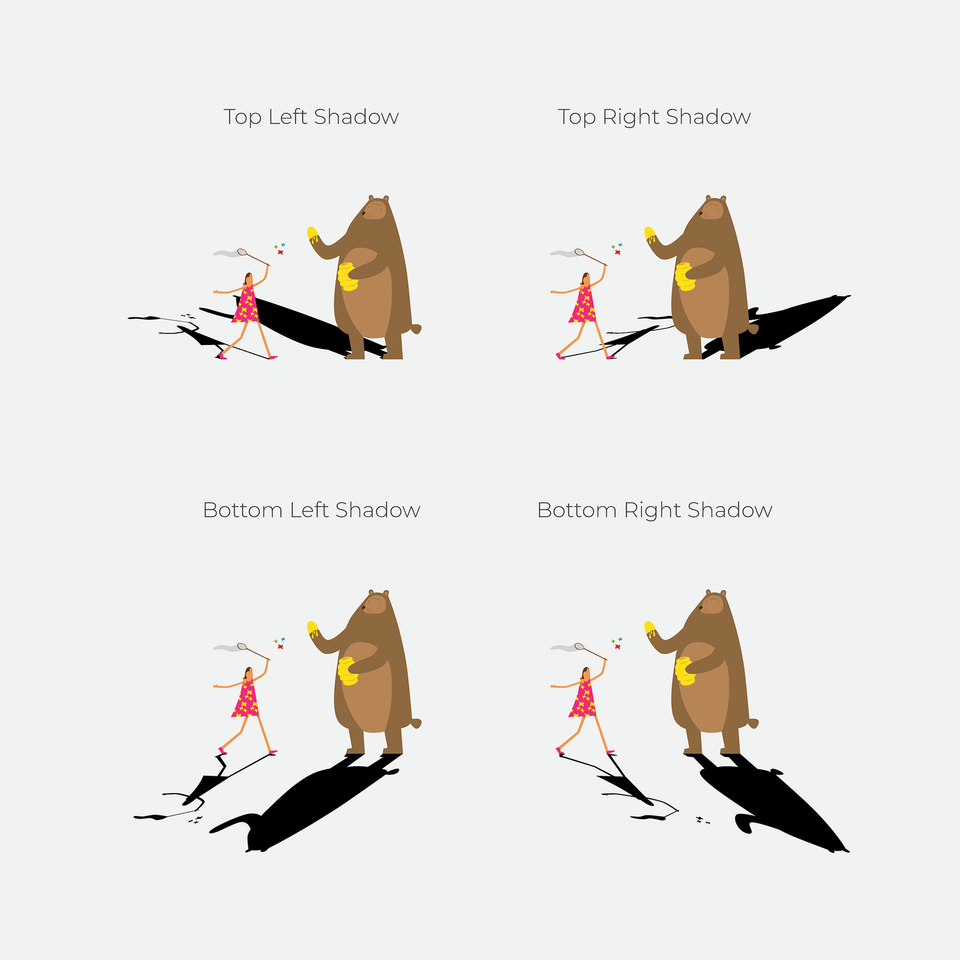 shadow illustrator actions