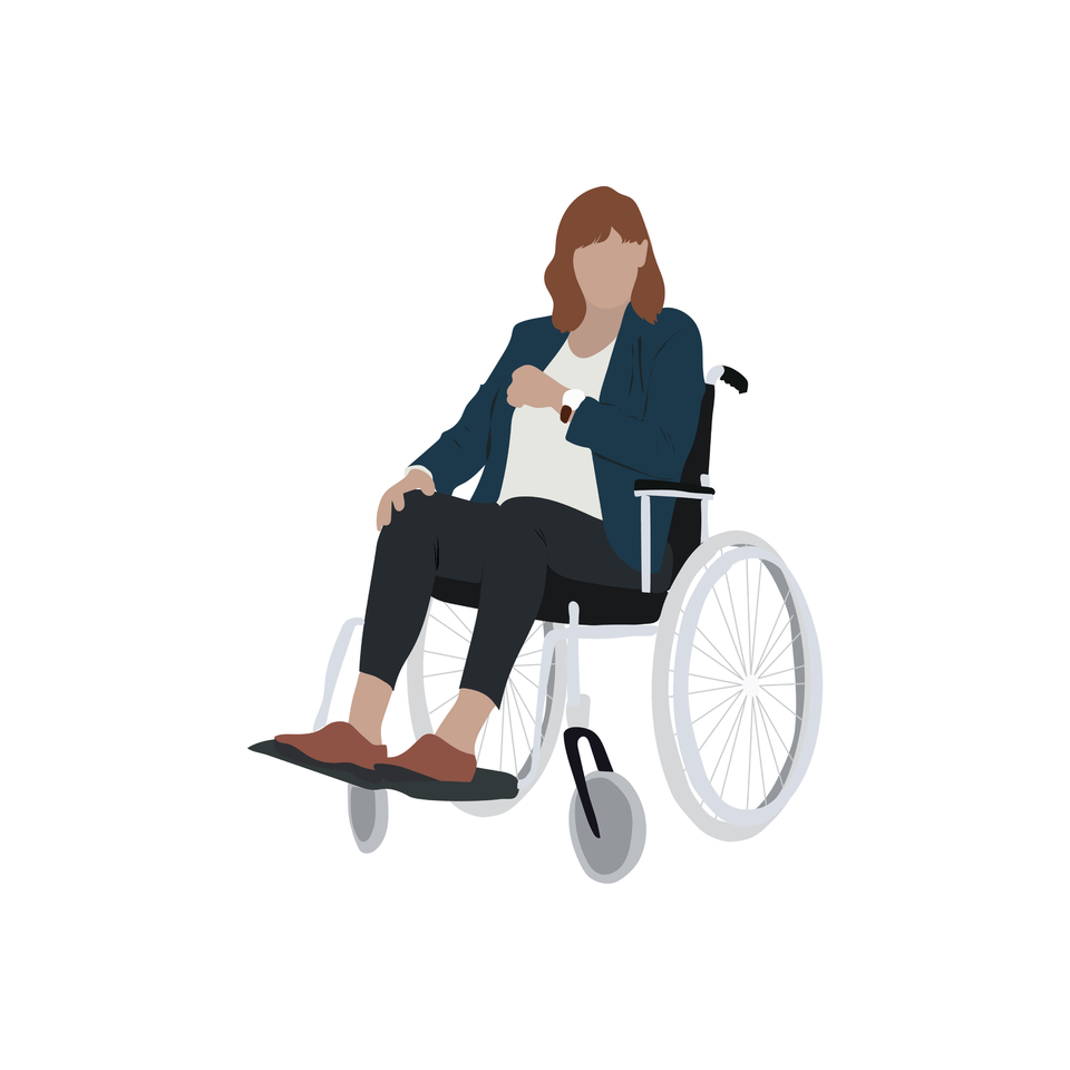 vector disabled woman