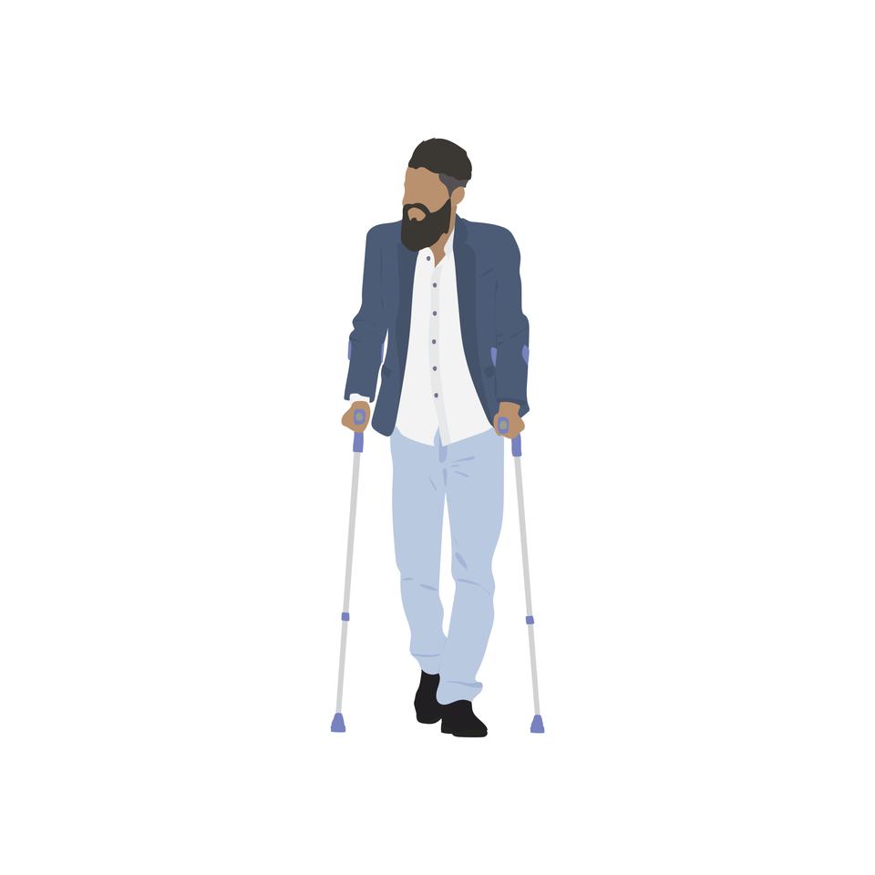 vector disabled guy