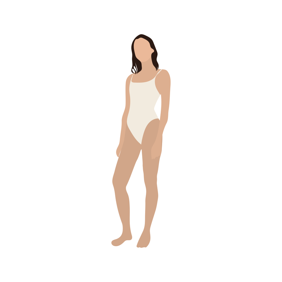 flat vector people beach