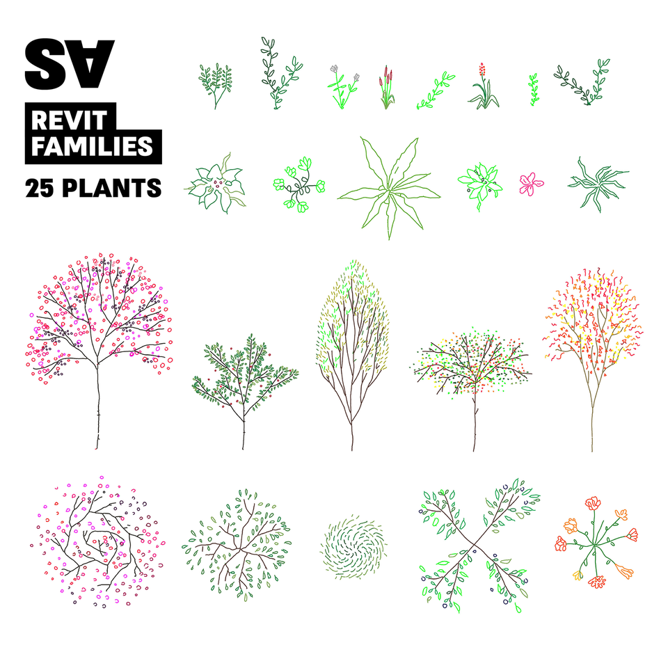 Revit Plants (25 Plants)-Revit-Studio Alternativi