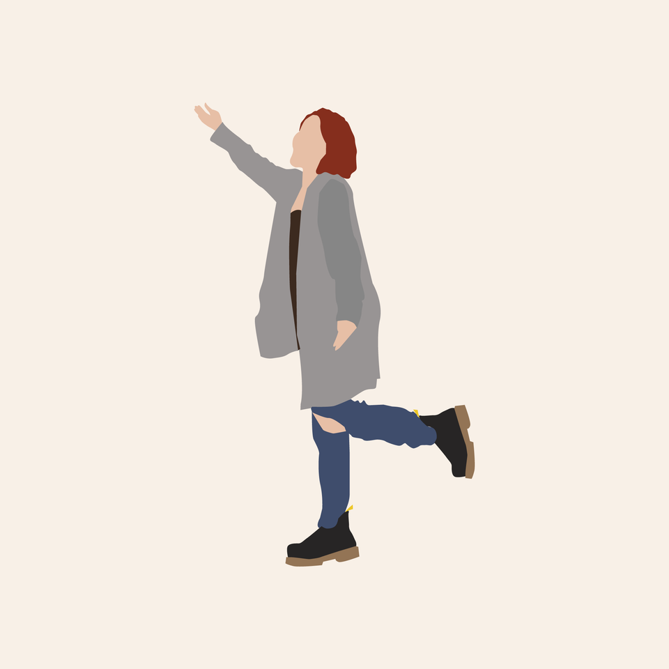 Flat vector cutout people