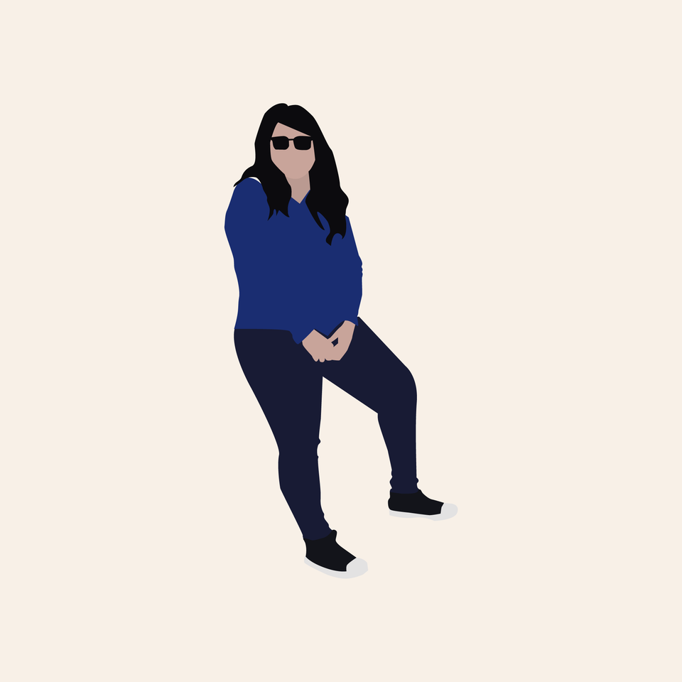 Flat vector cutout people sitting