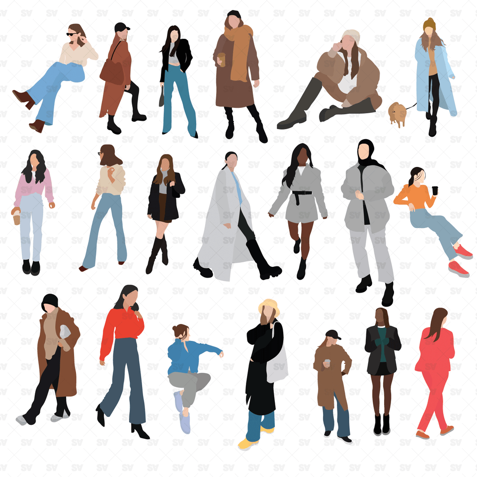 vector flat people woman