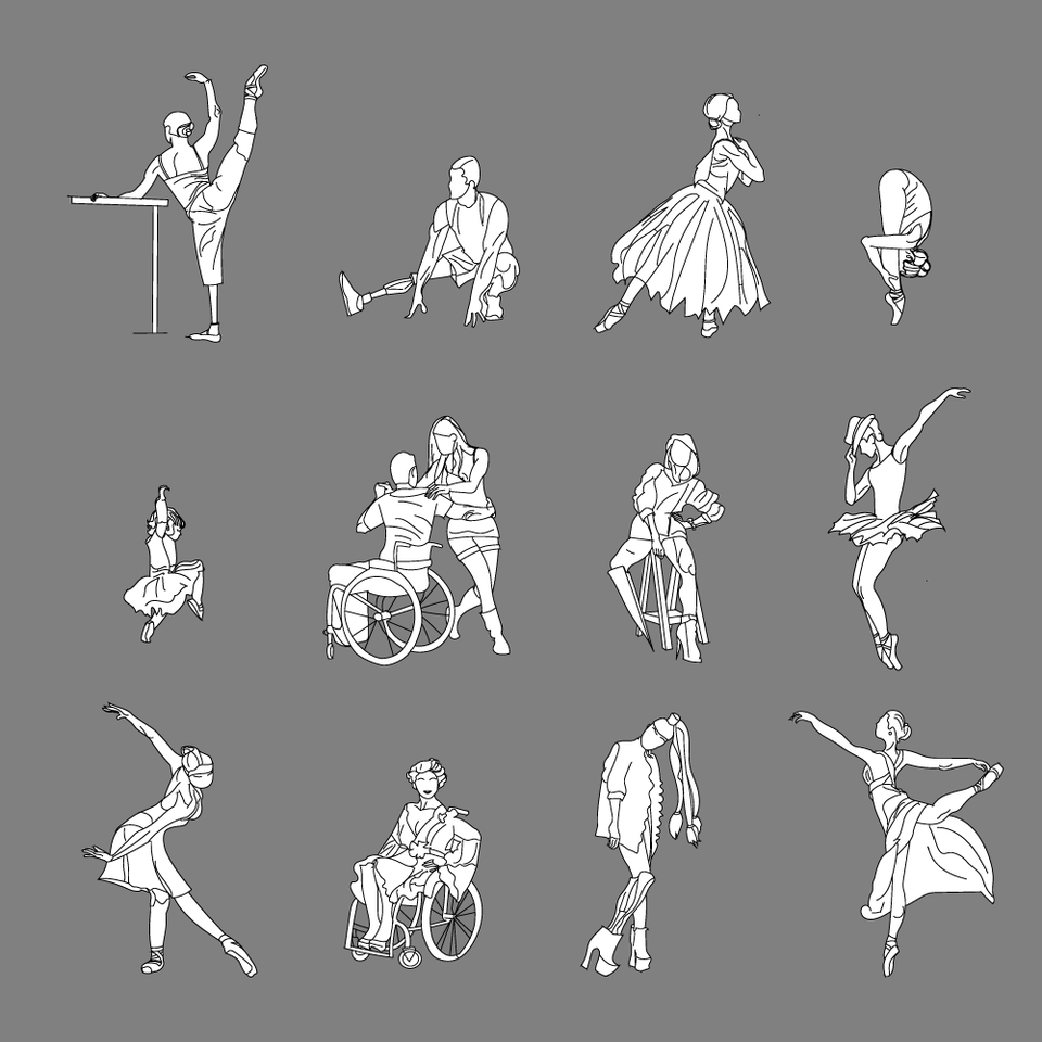 Dancers Illustrations