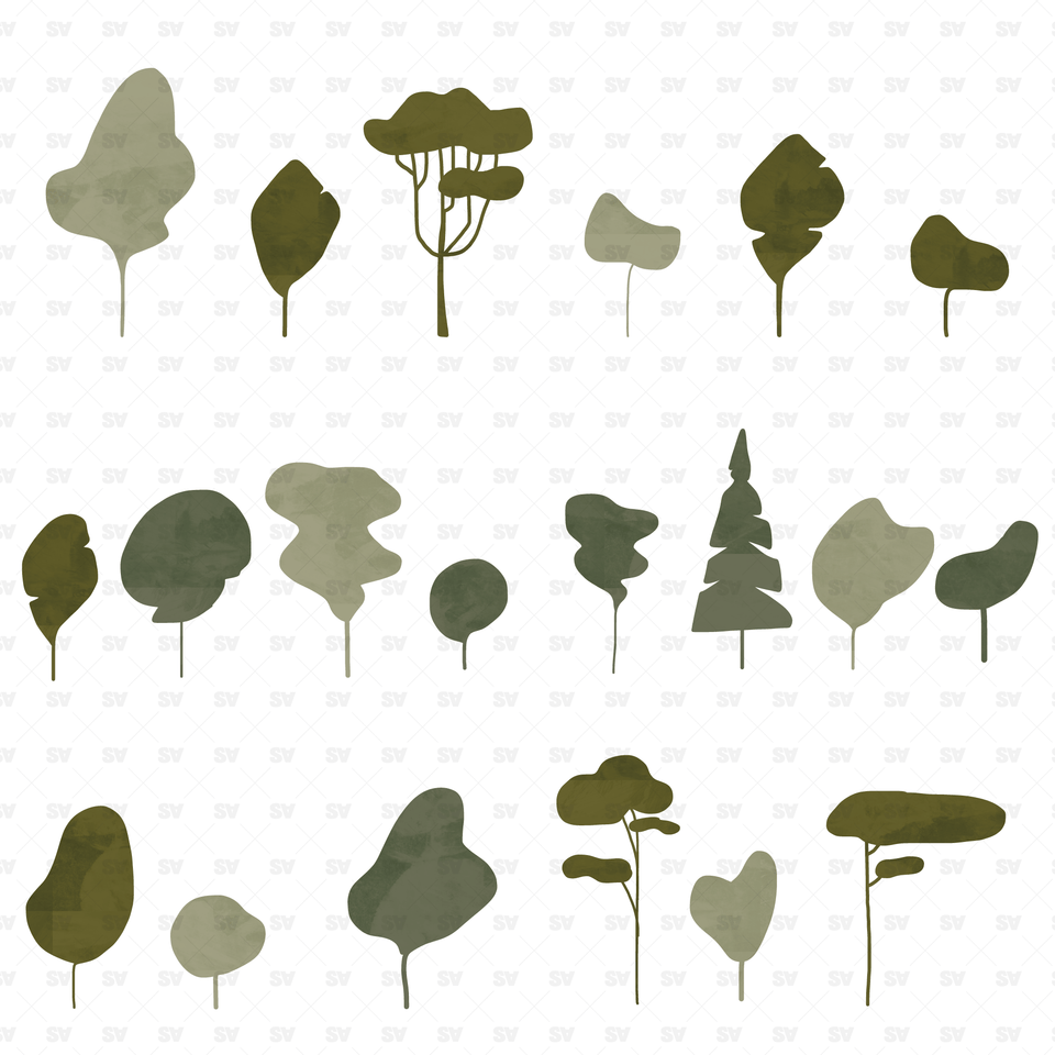 Abstract vector plants