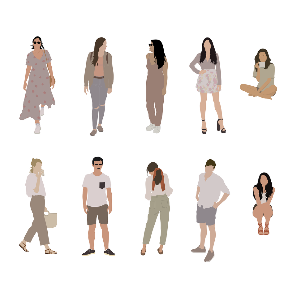 free vector people architecture