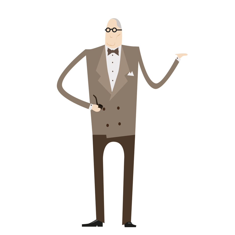 Le Corbusier Vector Character