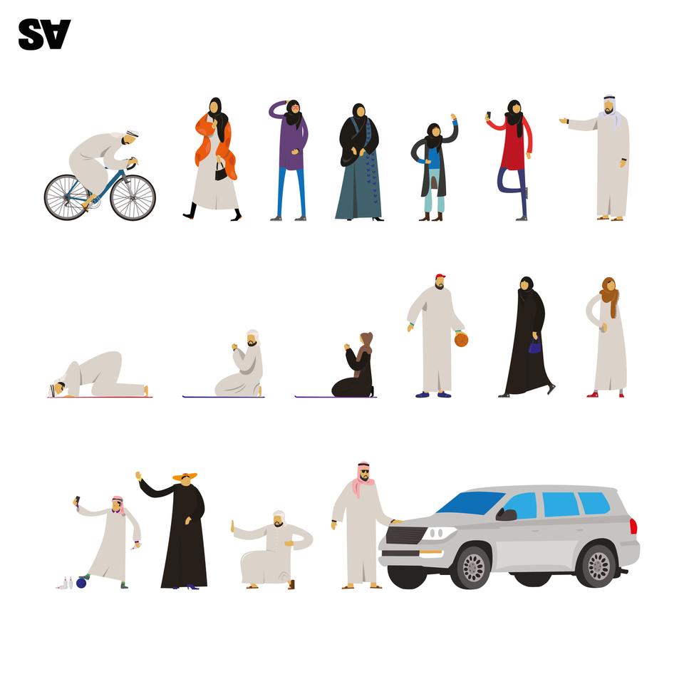 Vector Emirati People