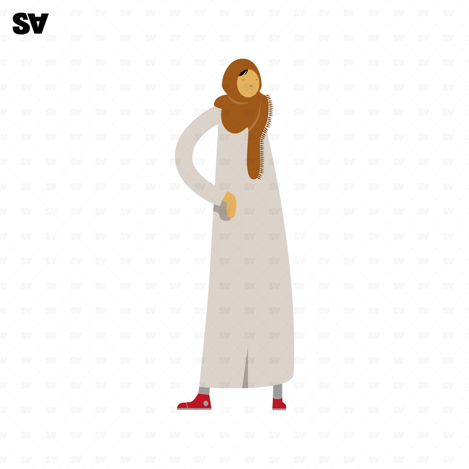 vector traditional arab woman