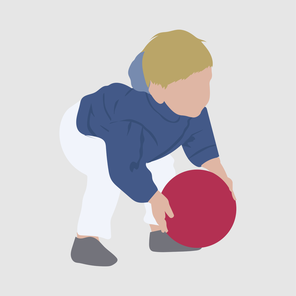 kid playing flat vector illustration