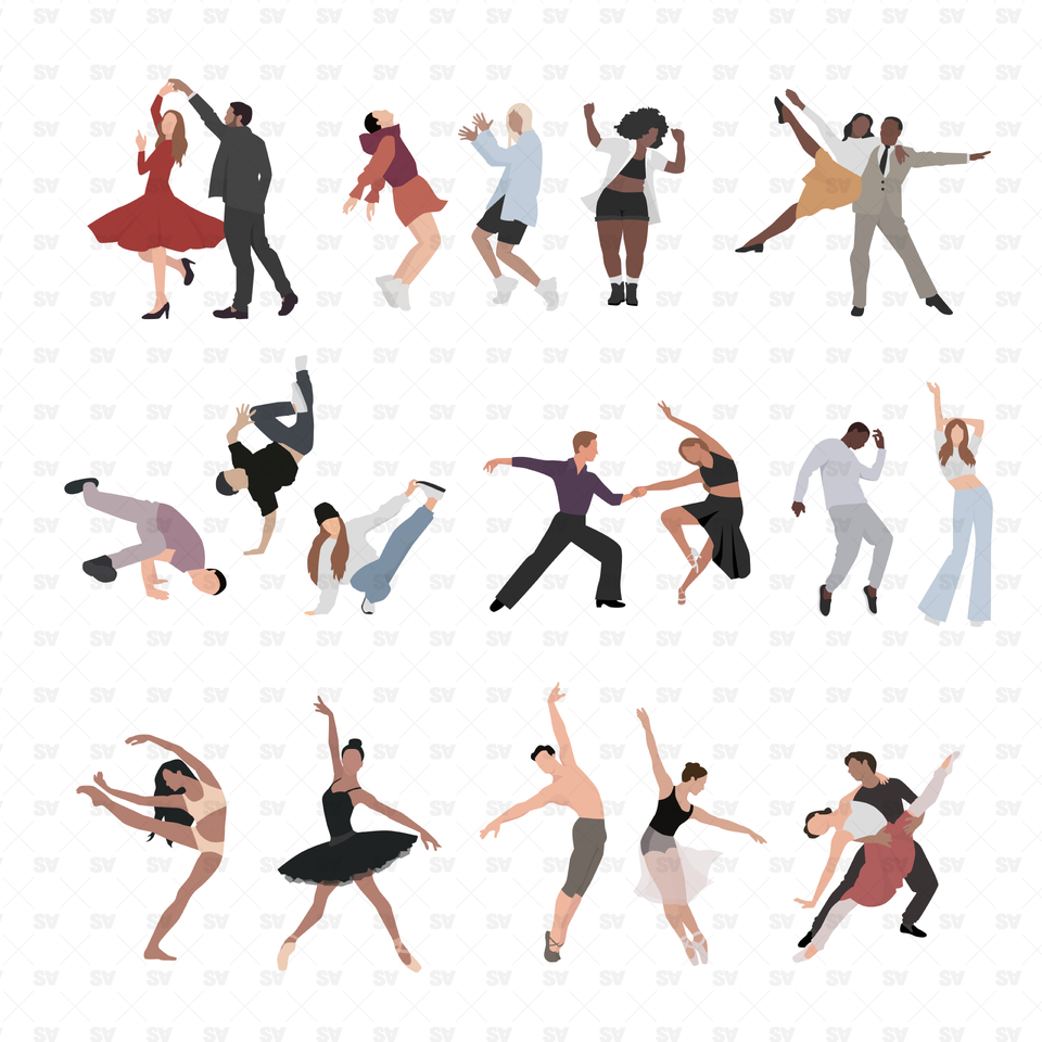 vector png dancers