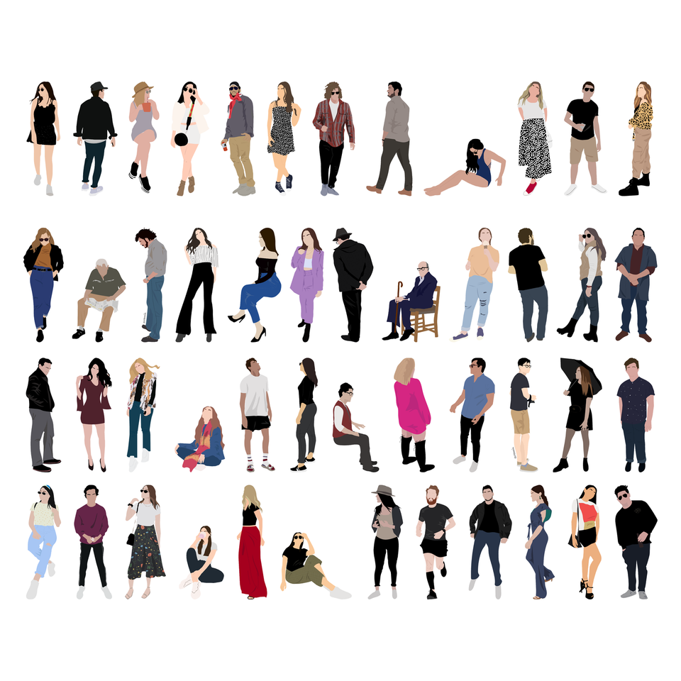 flat vector people free