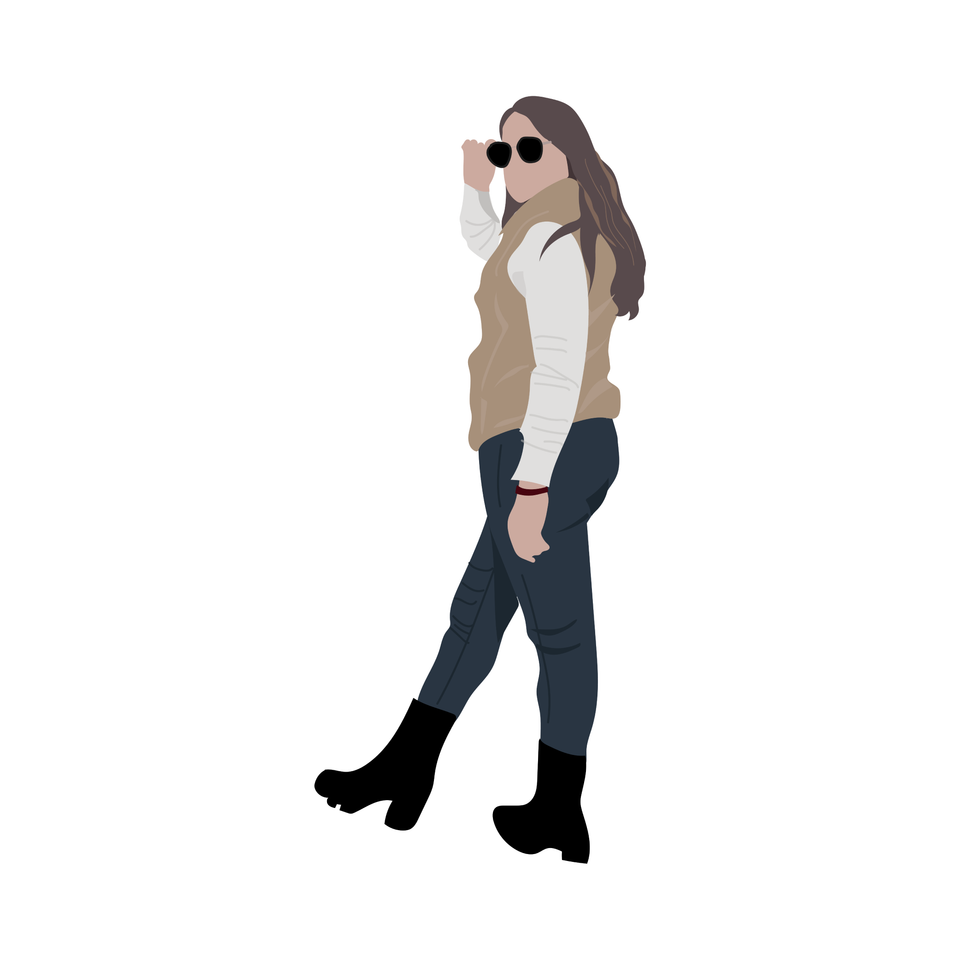 flat vector people fashion girl