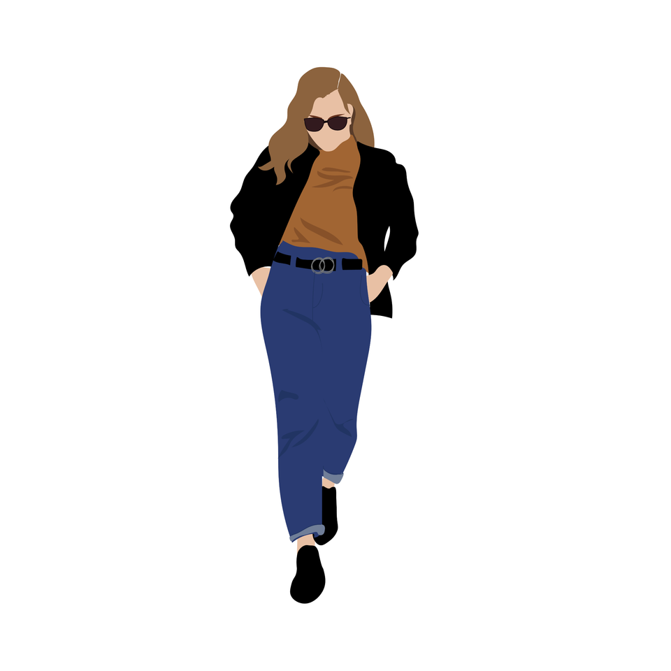 flat vector people fashion woman
