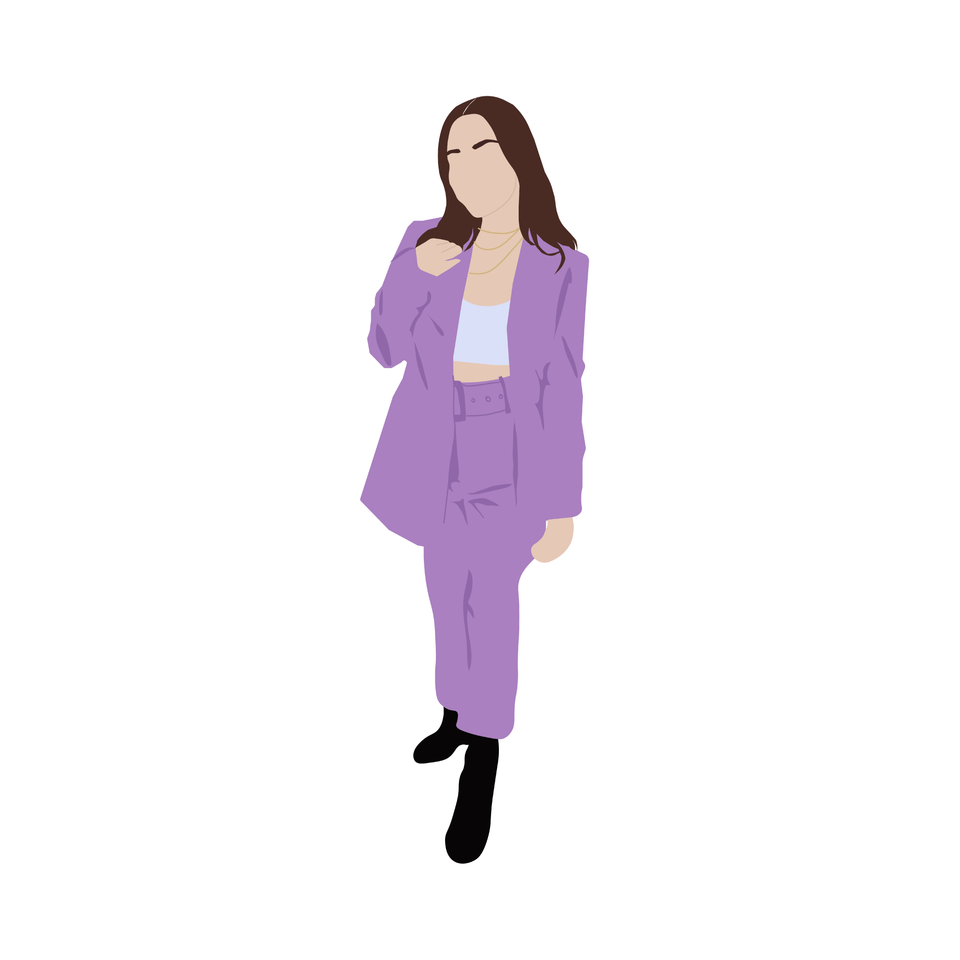 flat vector people  woman