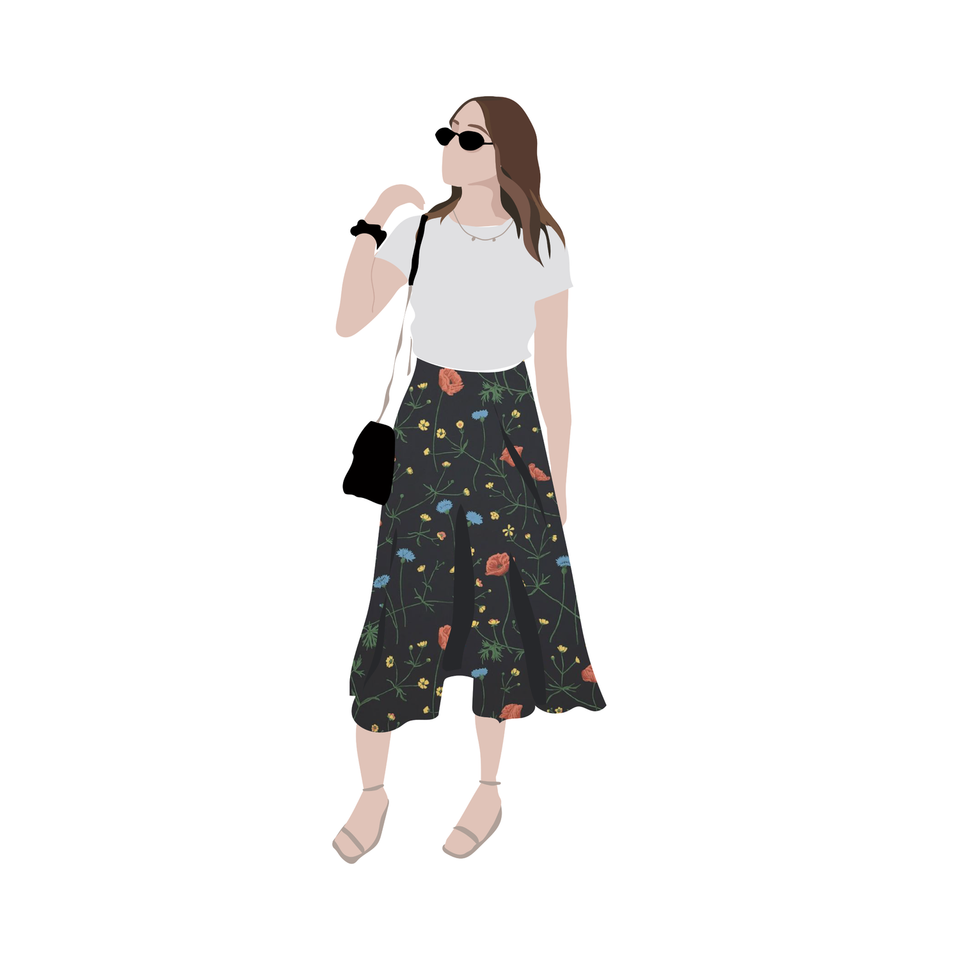 flat vector fashion woman