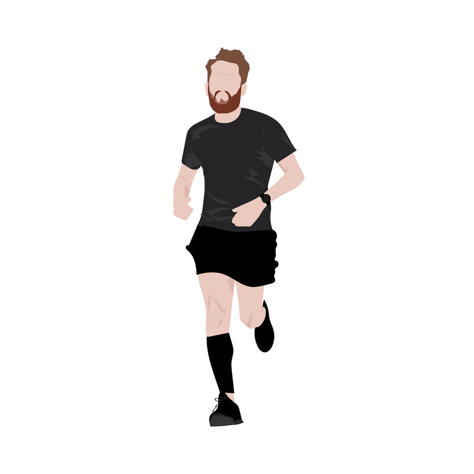 flat vector people common running