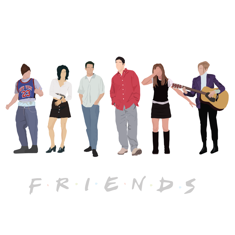 friends characters tv