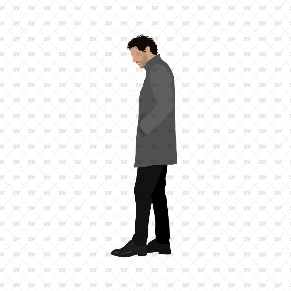 flat vector formal man