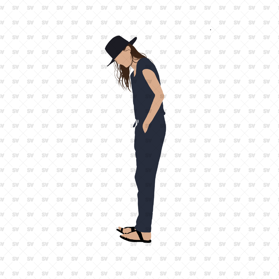 flat vector elegant women