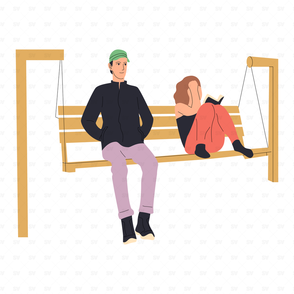 flat vector people illustrations couple