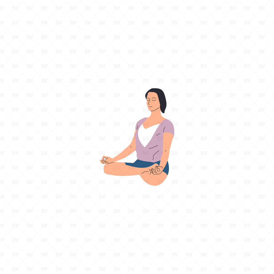 flat vector people illustrations meditation