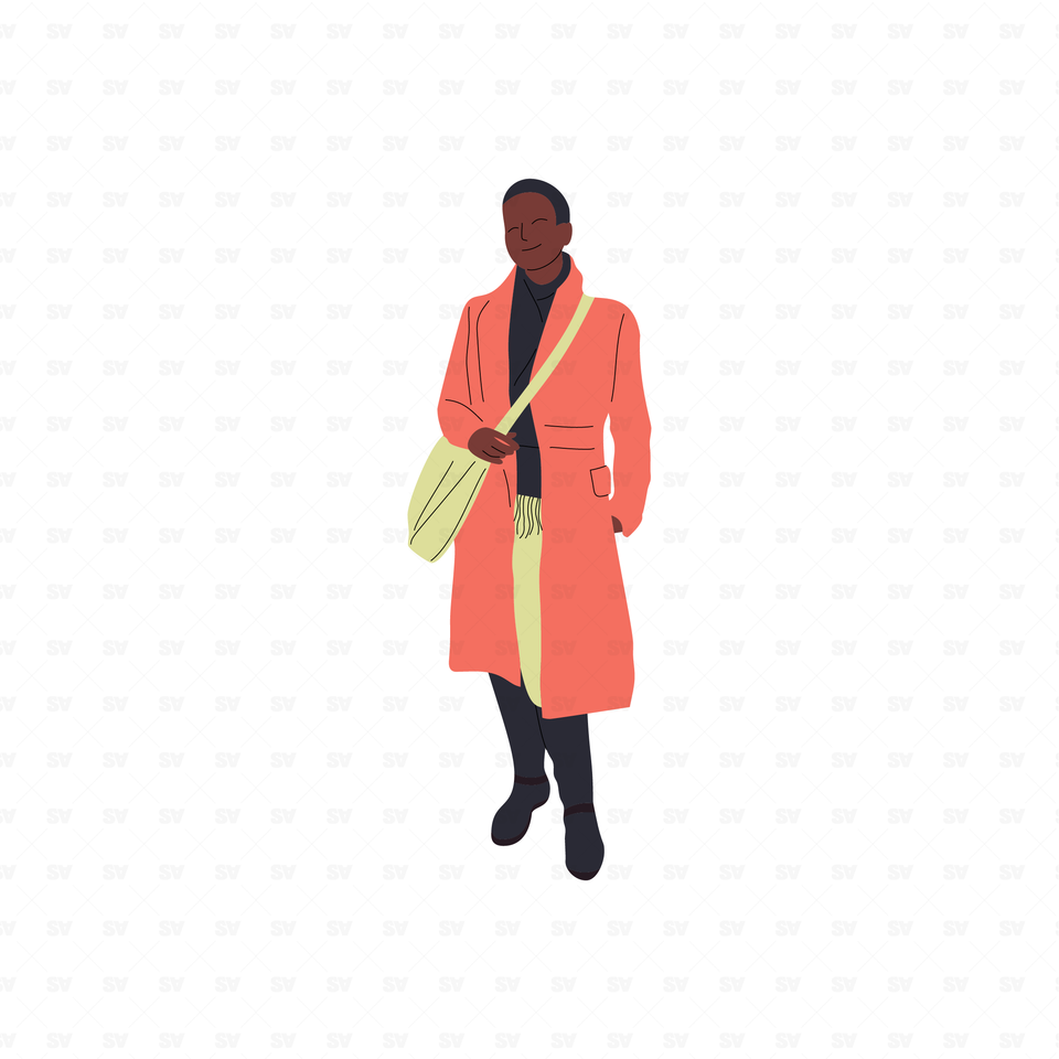 flat vector black woman