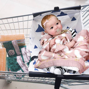 Cart Cover for Newborn,Toddler and Twins Baby Shopping Cart Hammock Blue