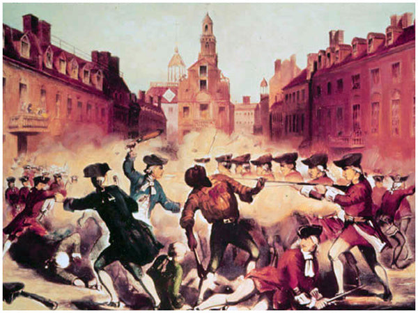 On the cold, snowy night of March 5, 1770, a mob of angry colonists gathers  at the Customs House in Boston and begins tossing snowballs and rocks at  the ...