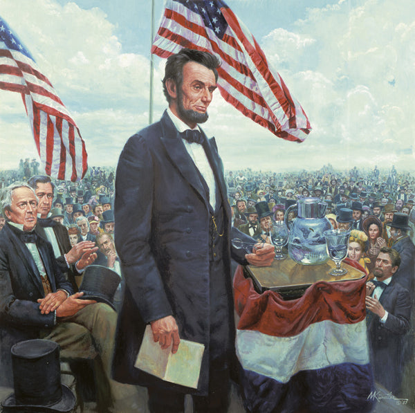 Image result for Lincoln delivers Gettysburg Address 1863 images