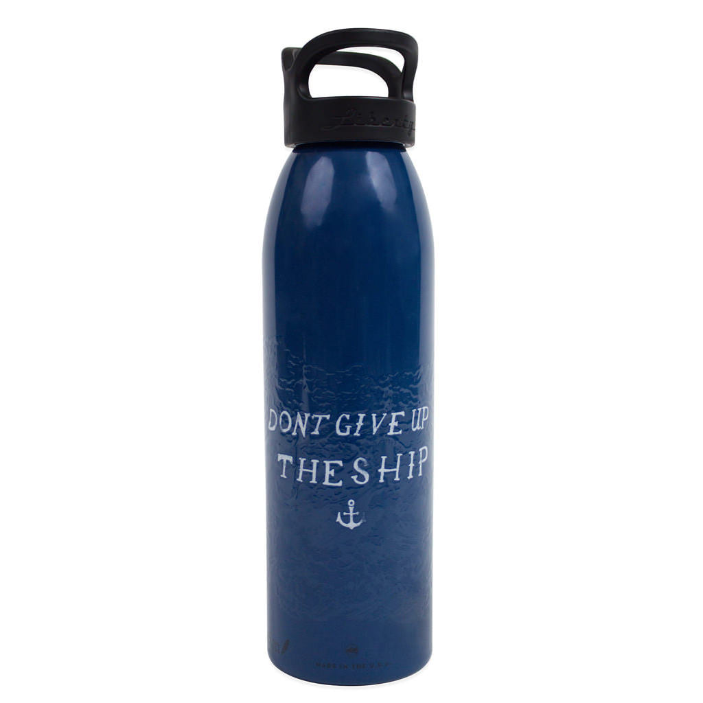 Don't Give Up The Ship Water Bottle - Declaration Clothing - 1