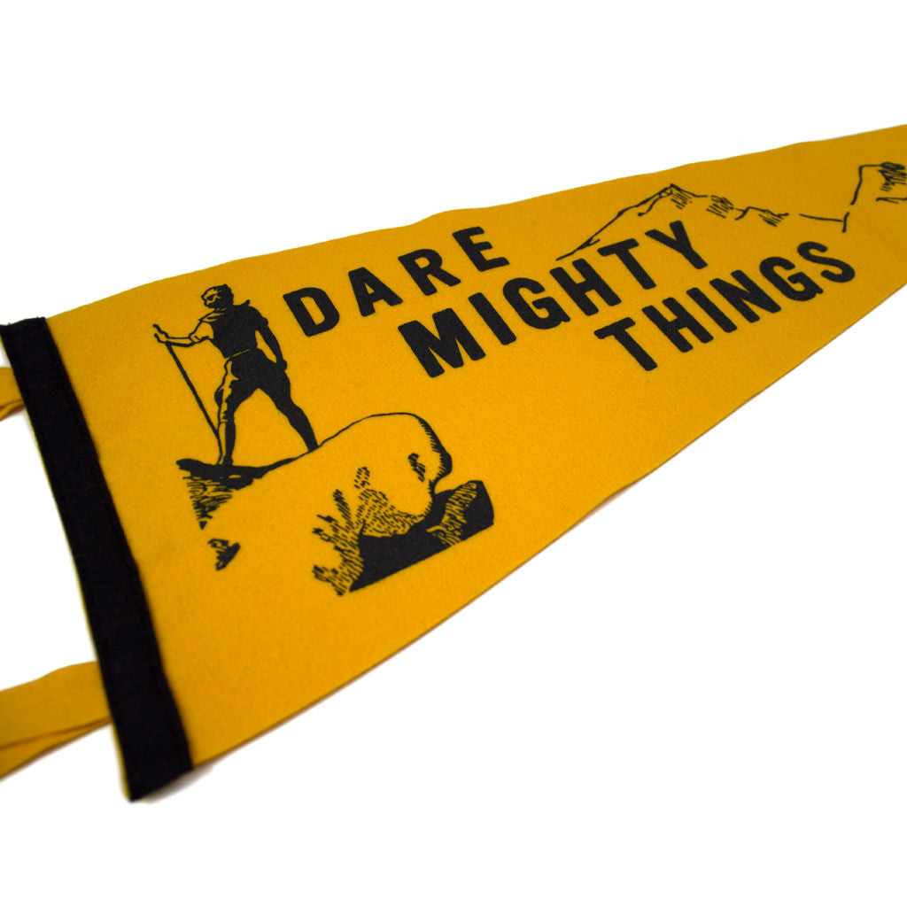 Dare Mighty Things Pennant - Declaration Clothing - 2