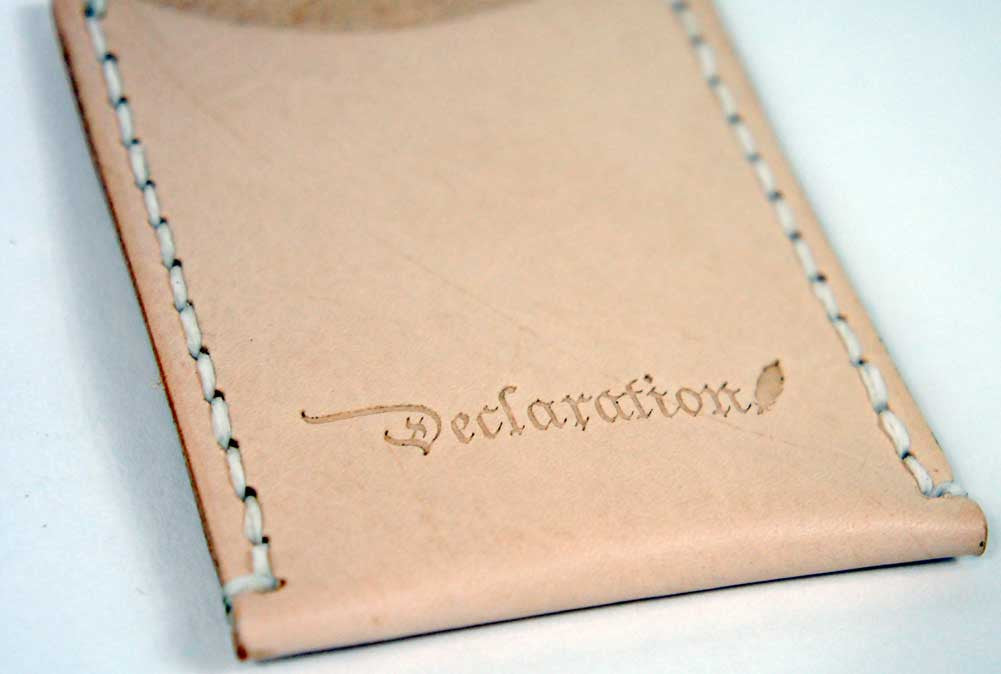 Natural Leather Card Sleeve - Declaration Clothing - 3