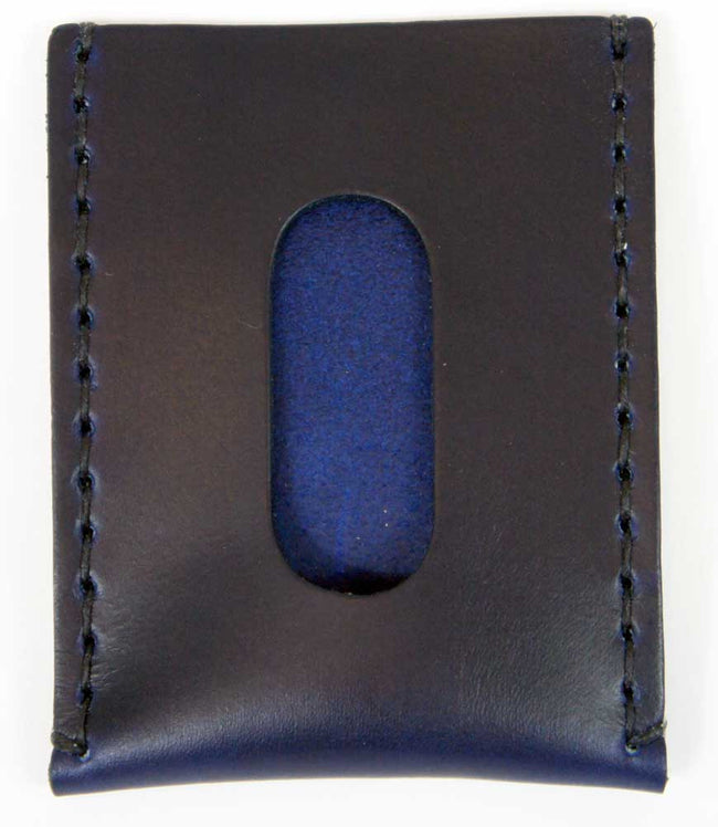 Navy Leather Card Sleeve - Declaration Clothing - 2