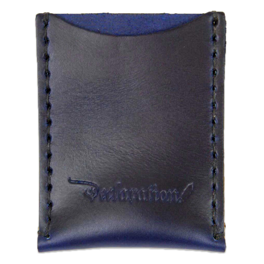 Navy Leather Card Sleeve - Declaration Clothing - 1