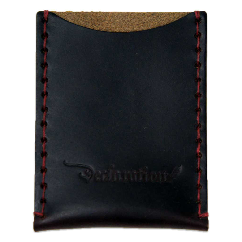 Dark Red Leather Card Sleeve - Declaration Clothing - 1