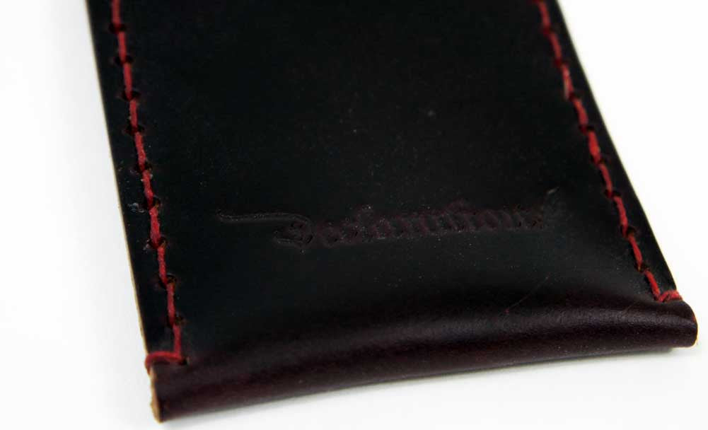 Dark Red Leather Card Sleeve - Declaration Clothing - 3