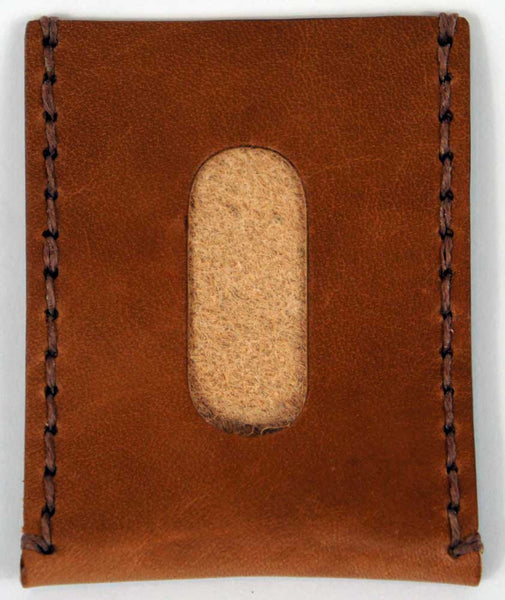 Saddle Tan Leather Card Sleeve - Declaration Clothing - 2