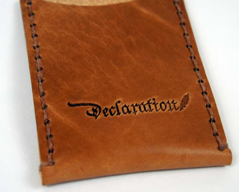 Saddle Tan Leather Card Sleeve - Declaration Clothing - 3