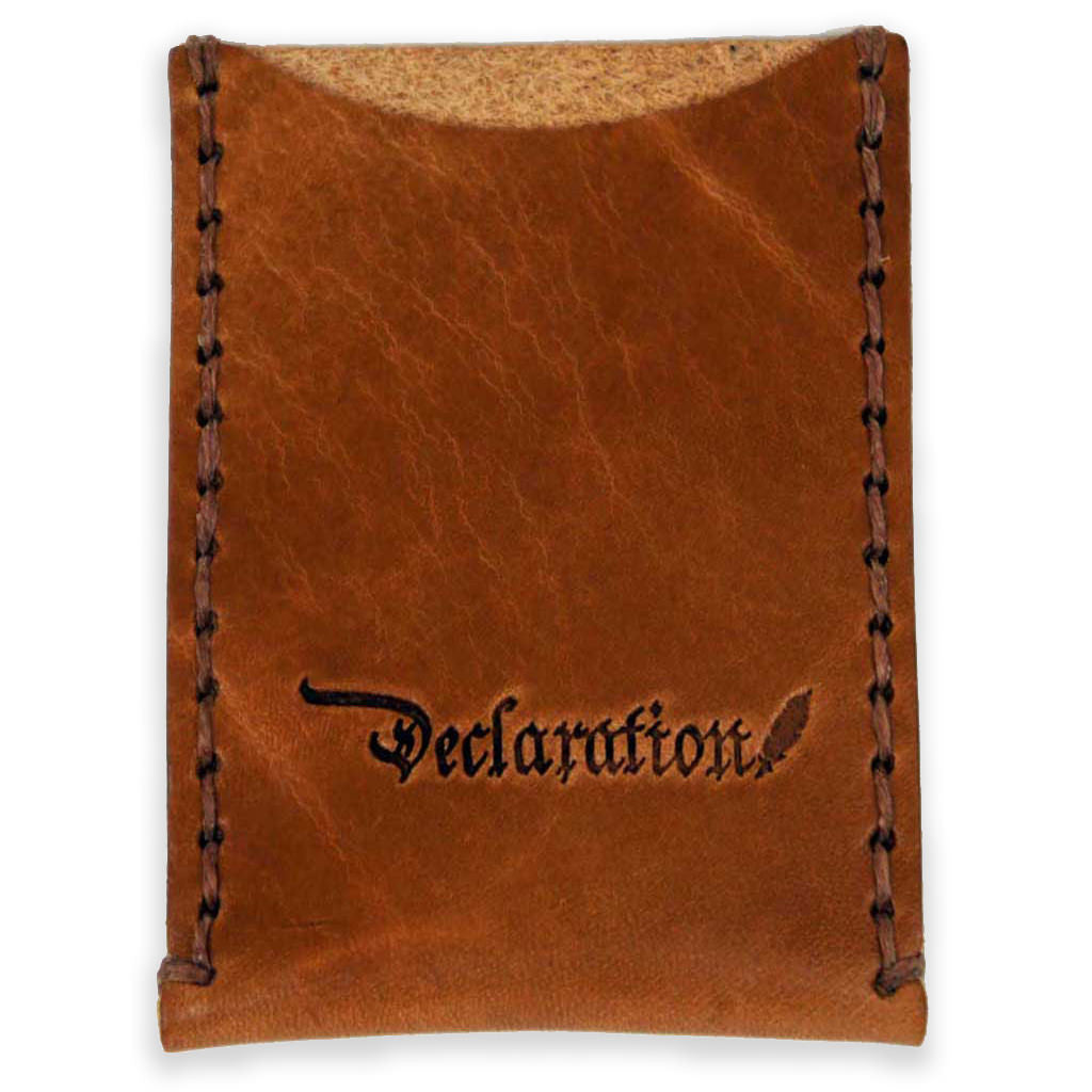 Saddle Tan Leather Card Sleeve - Declaration Clothing - 1