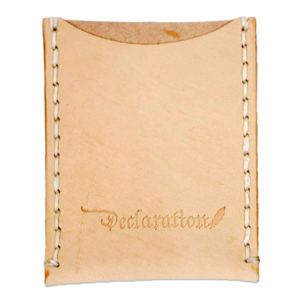 Natural Leather Card Sleeve - Declaration Clothing - 1