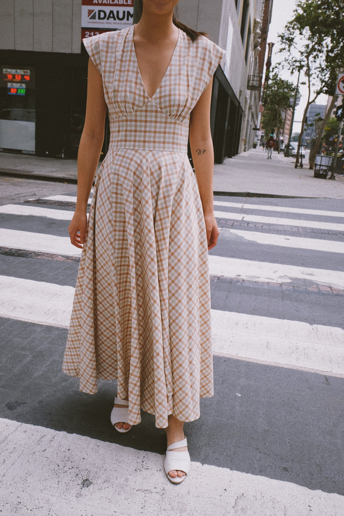 elena dress in vaquera gingham